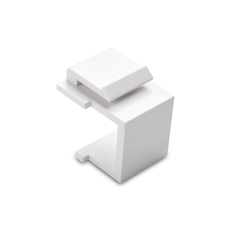 Blank Rj45 Keystone Jack Inserts for Wallplate / Patch Panel  White